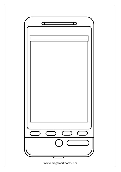 Cell Phone Coloring Pages cell phone coloring pages coloring home