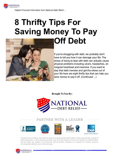 8 Tips On Saving Money For by 8 Thrifty Tips For Saving Money To Pay Debt