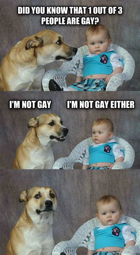 Gay Dog Meme - dad joke dog weknowmemes