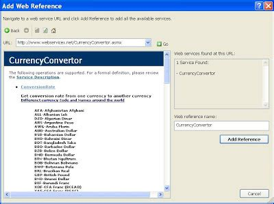 currency converter web service shalvin microsoft net blogs and other interests