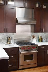 stainless steel backsplash tiles kitchen contemporary with
