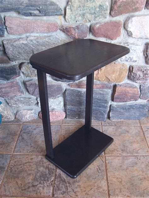 black wood snack sofa accent table large top