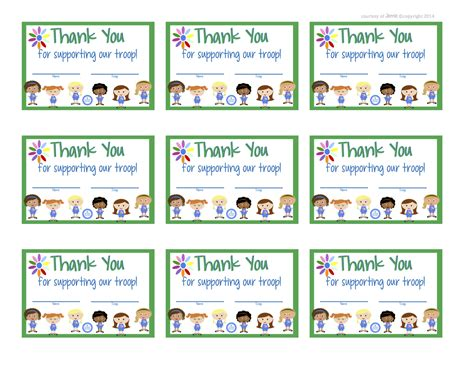 scout thank you cards template fashionable scouts daisies thank you cards