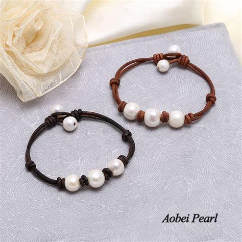 Handmade Pearl Bracelet - aobei pearl handmade bracelet made of freshwater pearl