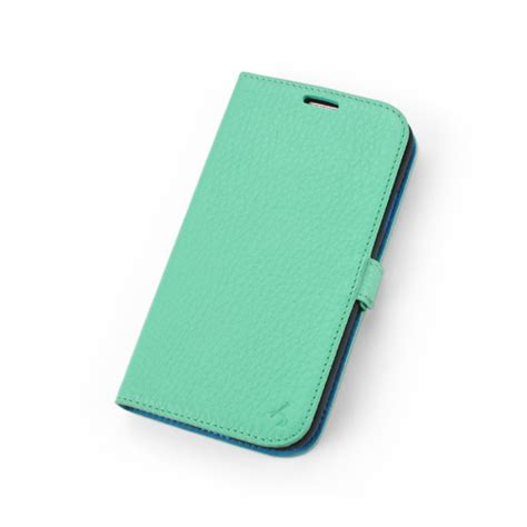 Samsung Note 4 Cover Blue Moon Flip Mint Goospery Cover Note4 mint premium genuine leather side flip leather wallet for samsung galaxy s4 samsung