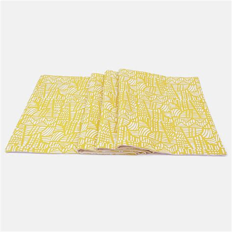 yellow pattern table runner mosaic yellow table runner halfdrop