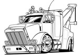 flatbed tow truck coloring pages coloring pages free