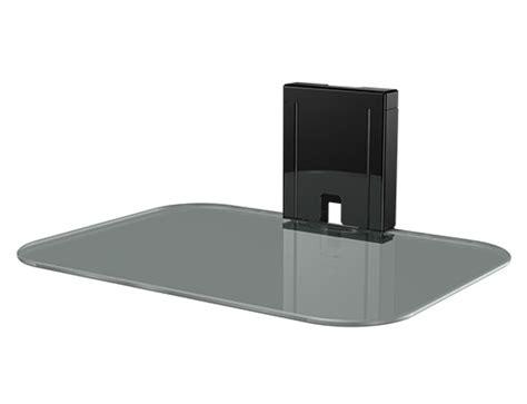 Sanus Component Shelf by Sanus Tempered Glass On Wall Av Component Shelf