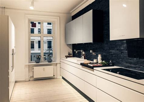 black kitchen tiles ideas cool black leather floor cover combined white kitchen