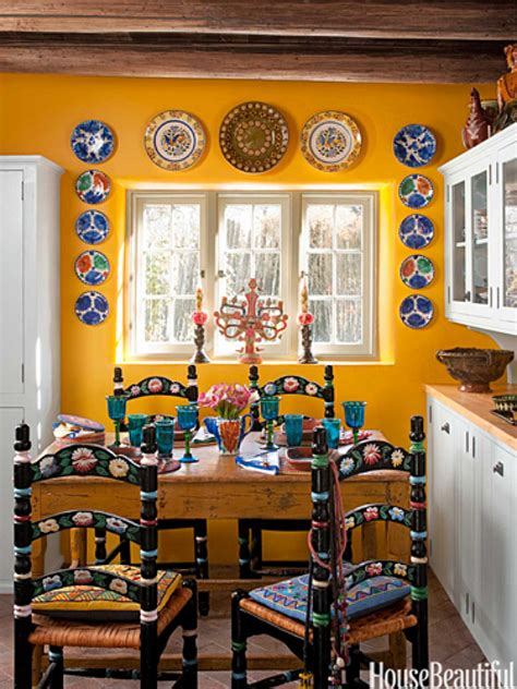 home interior mexico santa fe style kitchen bright bold and beautiful
