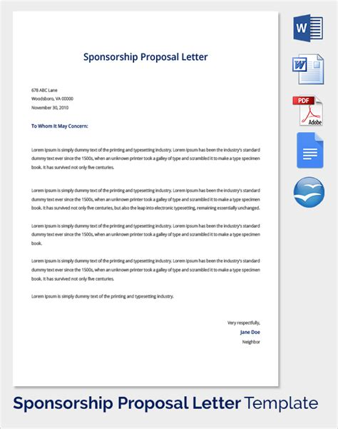 sle sponsorship proposal template 19 documents in