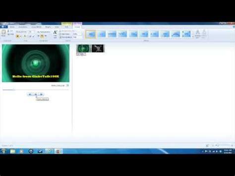 windows live movie maker tutorial adding text video loops text in windows live movie maker youtube