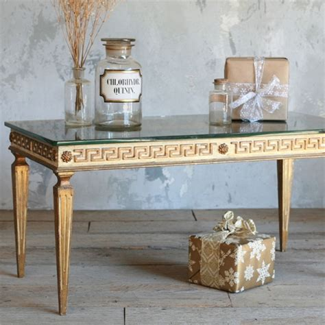 Unique Bathroom Decorating Ideas The One Of A Kind Vintage Coffee Table Greek Key