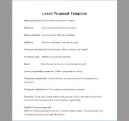 lease proposal template of lease proposal sample templates