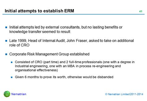 Initial Consultant Mba by Enterprise Risk Management Slides