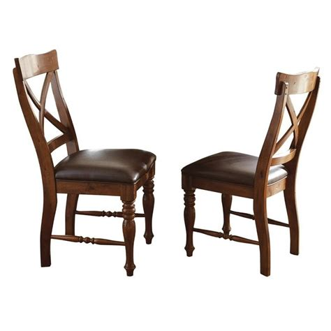 steve silver company wyndham dining chair in distressed