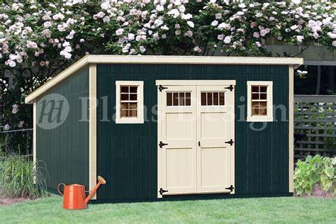 deluxe modern storage shed plans blueprints