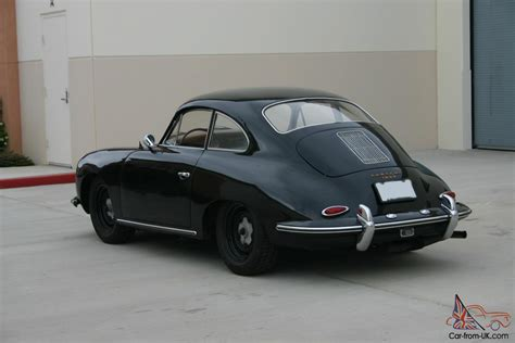 porsche coupe black porsche 356 b 1960 black tan california car nice driver