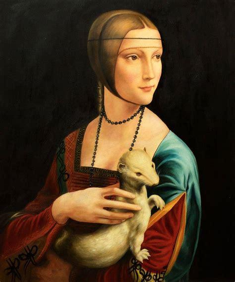 ermine color leonardo da vinci with an ermine painting