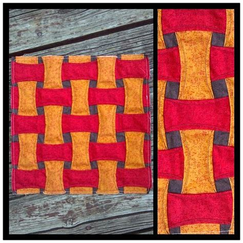 free pattern cathedral window quilt along block two