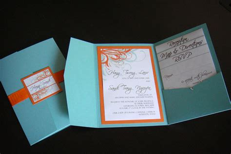 wedding invitations blue orange contact me for flickr