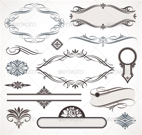vector decorative design elements page decor calligraphic design elements page decor graphicriver