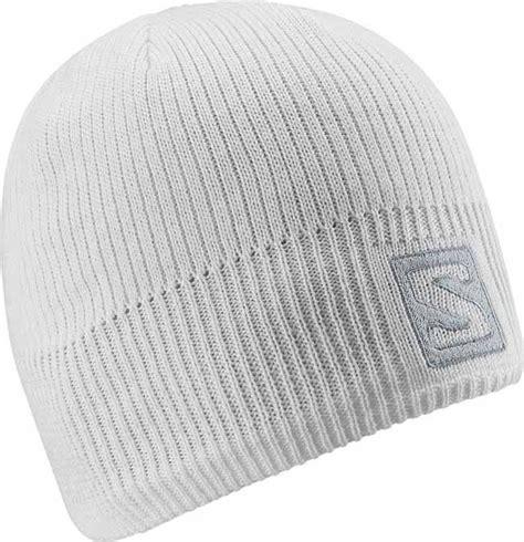 salomon womens logo beanie in white 15 16 landau store