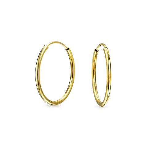 14k gold for jewelry thin classic 14k yellow gold endless hoop earrings