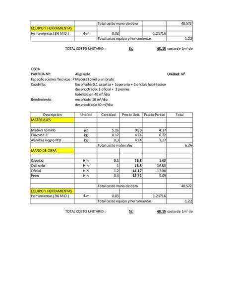 lista de mano de obra 2016 de la ctm lista de precios mano de obra de la uocra 2016 el sector
