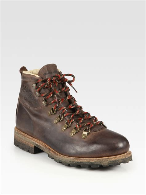 frye mens sneakers lyst frye cobb hiker boot in brown for