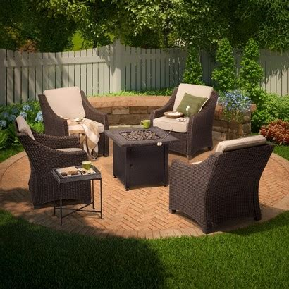 pit patio furniture sets 1sale threshold belvedere 5 wicker patio pit best patio furniture sets 2015