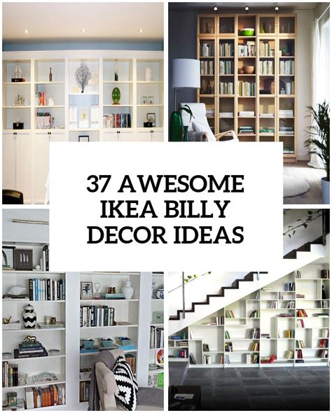 librerie ikea billy 37 awesome ikea billy bookcases ideas for your home digsdigs