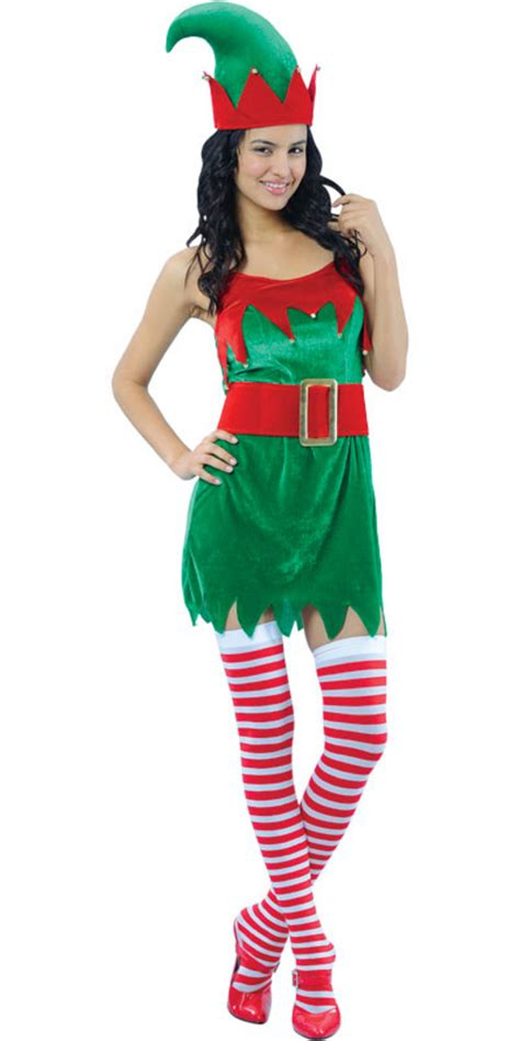 enchanting elf ladies christmas fancy dress costume