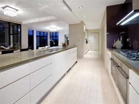 white galley kitchen ideas modern galley kitchen with high gloss white cabinet and