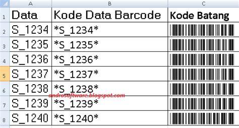 membuat barcode qr dengan excel cara membuat barcode dengan excel basedroid