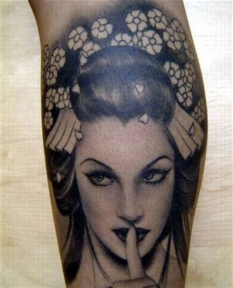 geisha tattoo black and gray 66 best images about girl tattoo on pinterest sugar