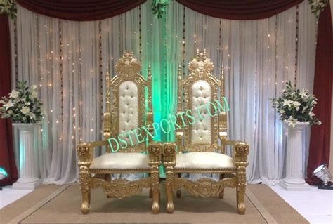 indian wedding chairs for and groom wedding golden groom chairs