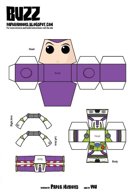woody template woody buzz de paper minions minions woody and paper