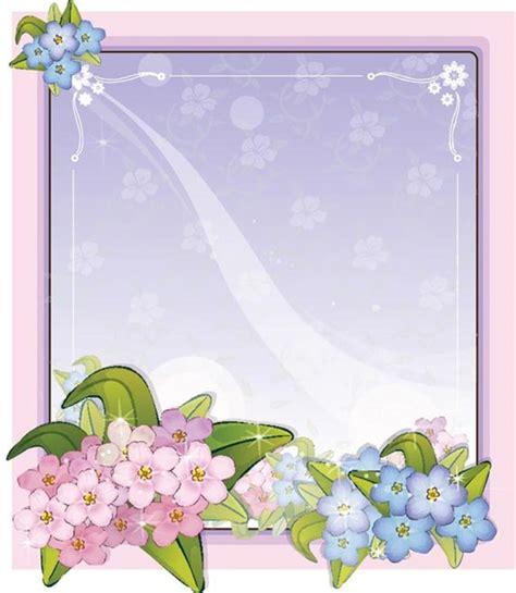 flower card template blue flower on purple flower card template vector free