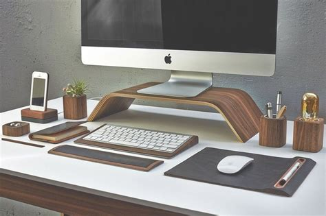 Mac Desk Accessories Grovemade S Walnut Monitor Stand Is An Imac Accessory That Will Last You A Lifetime Cult Of Mac