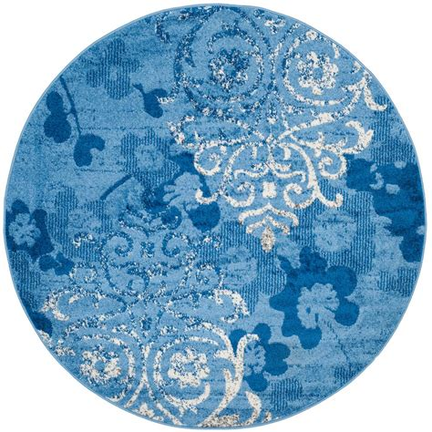 blue circular rug safavieh adirondack light blue blue 8 ft x 8 ft area rug adr114f 8r the home depot
