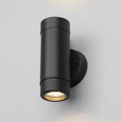 led up down lights hahn black outdoor polycarbonate led single wall light