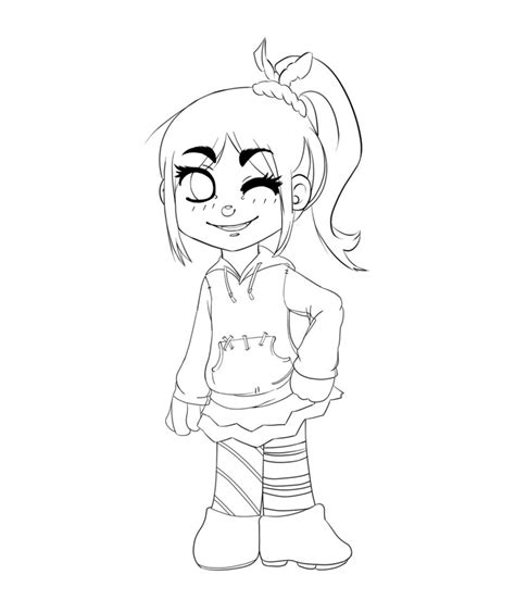vanellope von schweetz coloring pages coloring pages