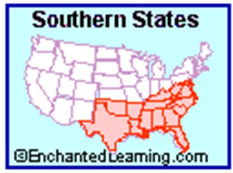 southern us map with states and capitals usa regional map quiz printouts enchantedlearning