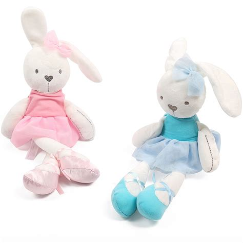 Promo Tupperware Serving Center 1pcs Pink 1pcs 42cm rabbit with pink dress baby plush soft ballet rabbit doll comfort doll