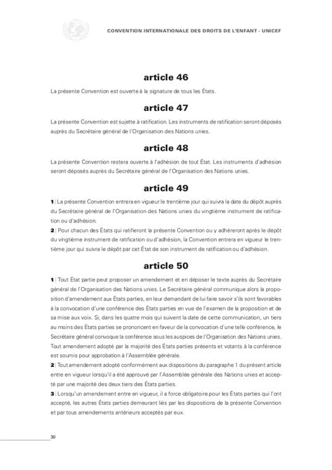 lenfant noir texte integral convention internationale du droit de l enfant unicef texte int 233 gral