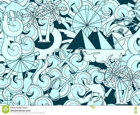 doodle elements 190 seamless pattern doodle ancient