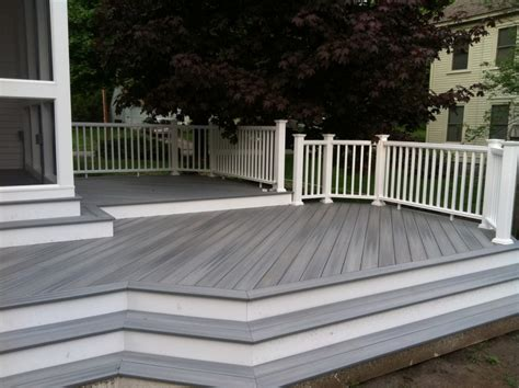 gray deck decorating architecture good looking trex decking