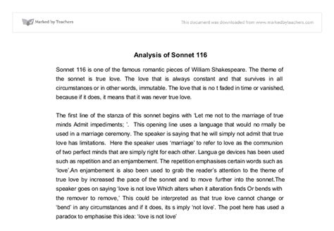 Sonnet 18 Analysis Essay by Shakespeare Sonnet 116 Analysis Essay Essay On Sonnet 18 Essay On Sonnet 116 Sonnet 116 Essay