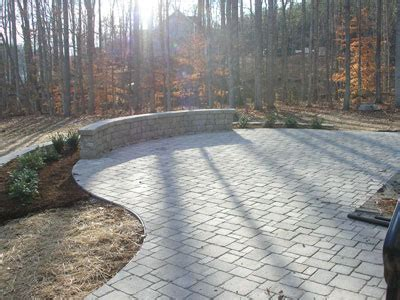 Patio Designs Curved Compare Pavers To Brick Differences